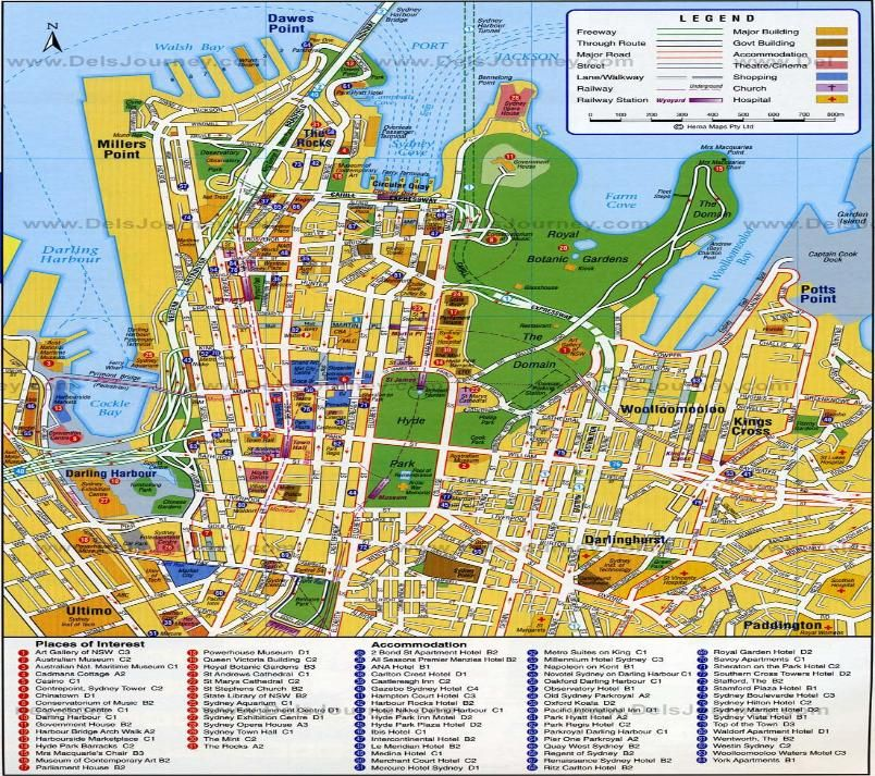 Sydney map Australia places I want to visit Pinterest Sydney