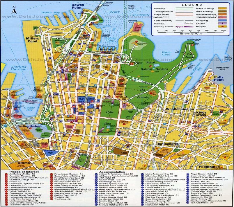 Sydney map Sydney City Map
