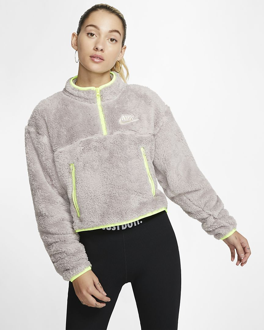 Morgue Descomponer físicamente  Nike Sportswear Women's 1/4-Zip Sherpa Fleece Crop Top. Nike.com in 2020 |  Nike sportswear women, Pullover sweater women, Clothes for women