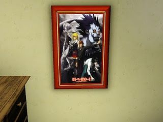Sims 3 Anime Finds: Death Note Posters By Vidkid20