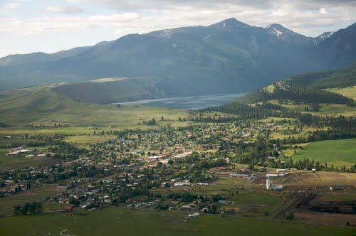 Joseph Oregon And Wallowa Lake From The Air Back