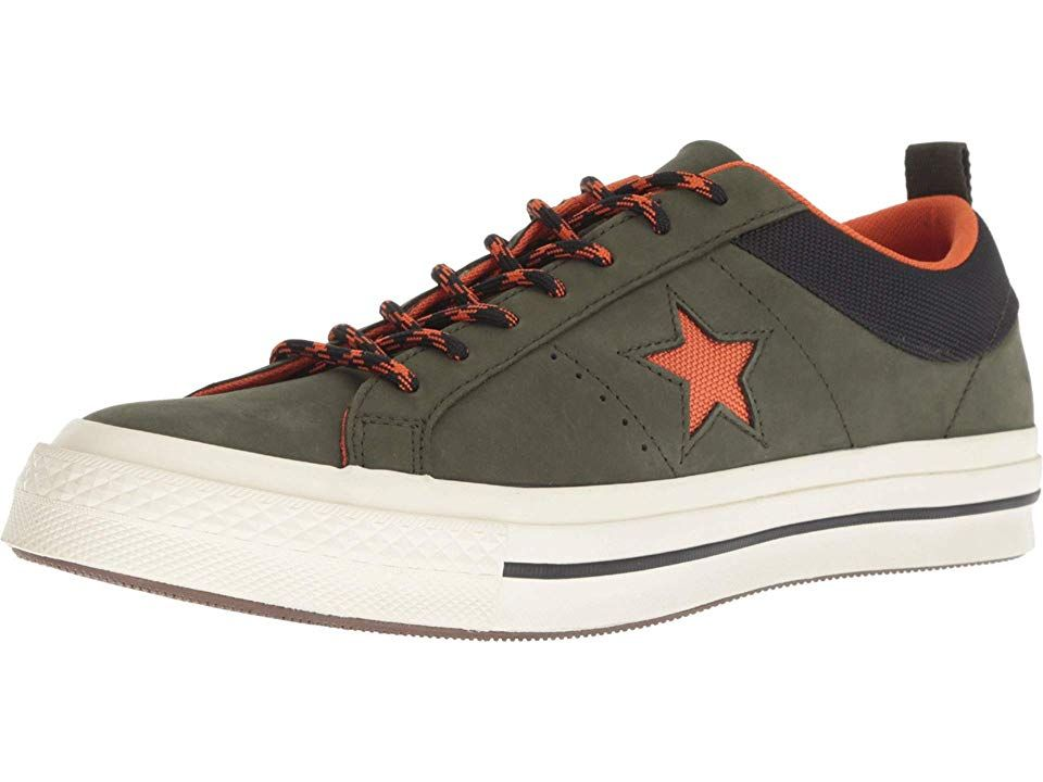 Converse One Star - Ox Men s Lace up casual Shoes Utility Green Campfire  Orange Black aae0574eb