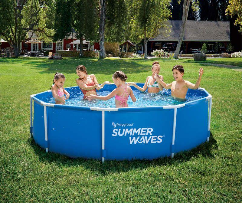 Summer Waves 10 X 30 Metal Frame Pool Big Lots In 2020 Summer Waves In Ground Pools Pool