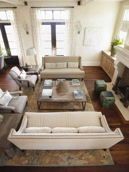 living room sofa two chairs decorating rectangular why you should arrange identical sofas opposite of each other urban grace interiors love the and arrangement