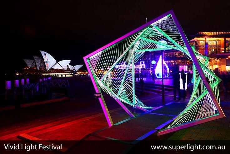 Wonderful Led Constructions At The Vivid Light Festival In Sydney Www Superlight Com Au Led Lights Stage Lighting Design Entrance Design Light Sculpture