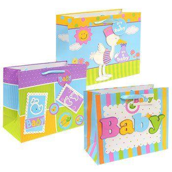 Voila Extra Large Horizontal Baby Themed Gift Bag