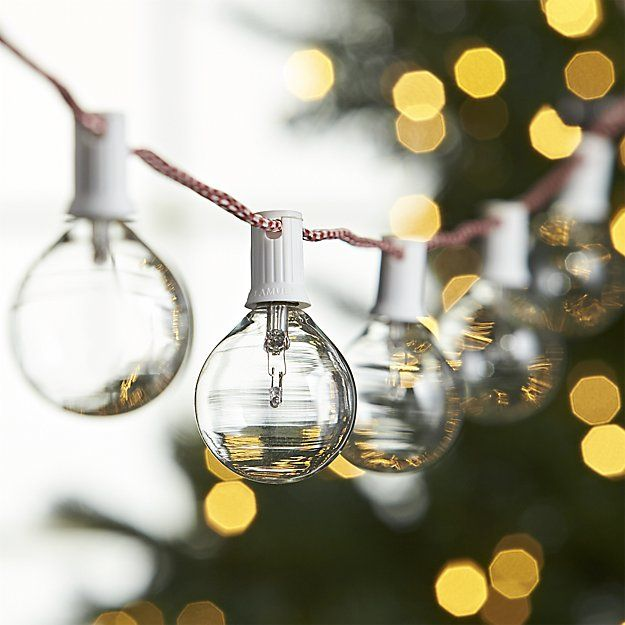 candy cane clear globe lights