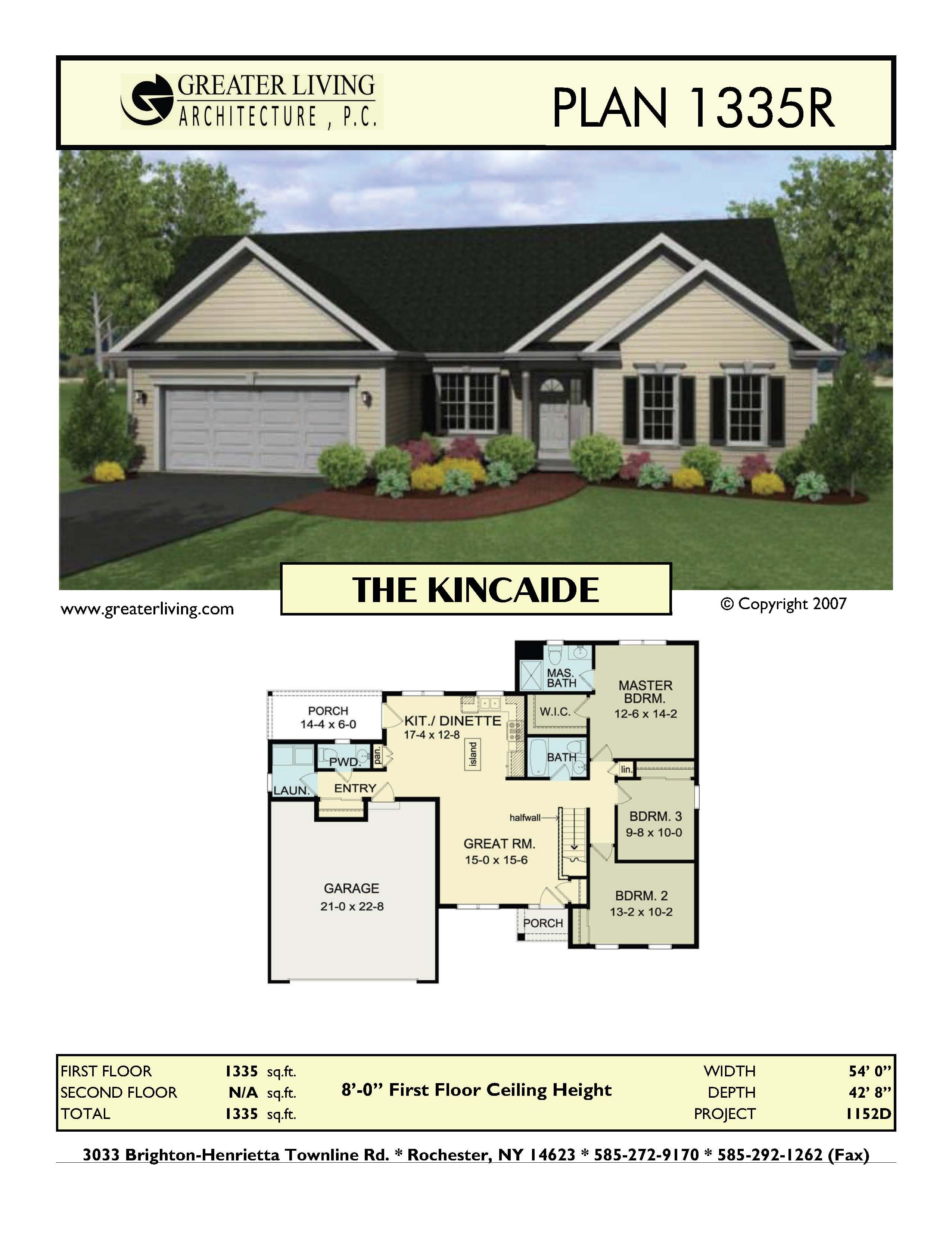 Plan 1335R: THE KINCAIDE | House plans | Pinterest | Architecture ...