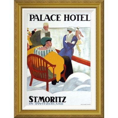 Global Gallery 'Palace Hotel/St. Moritz' by Emil Cardinaux Framed Vintage Advertisement Size: