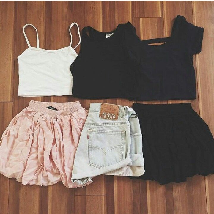 Shorts, skirts and crop tops