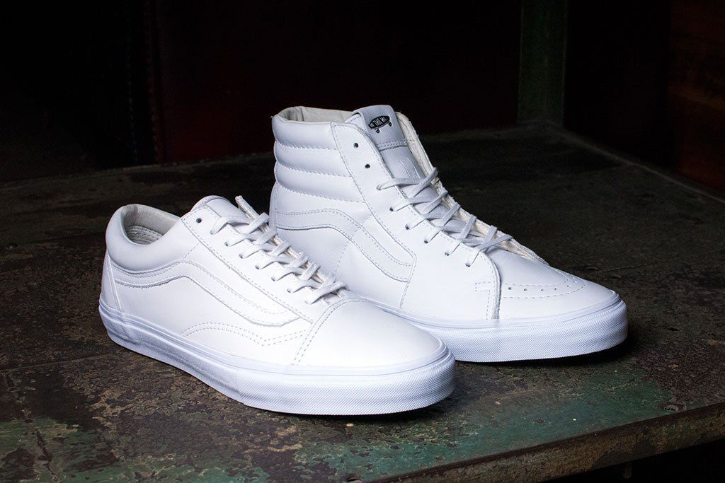 ... Vault by Vans Releases All-White Old Skool and Sk8-Hi LX SNEAKERS . 936bf61473f4d