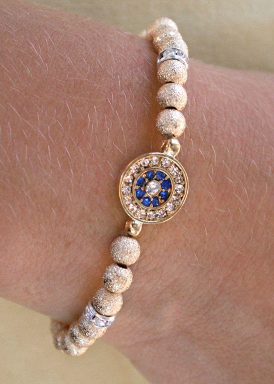 Astoria Couture - Astoria/Beaded swarowki eye stretchy bracelet, $89.00 (http://www.astoriacouture.com/astoria-beaded-swarowki-eye-stretchy-bracelet/)