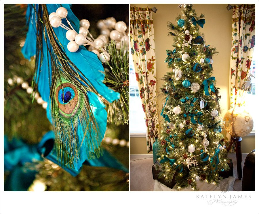 More peacock Christmas Trees \u0027Tis the Season! Pinterest - peacock christmas decorations