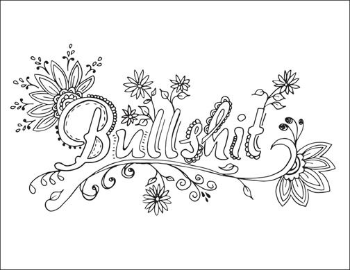 Free Printable Swear Word Coloring Pages Adult Coloring Pages
