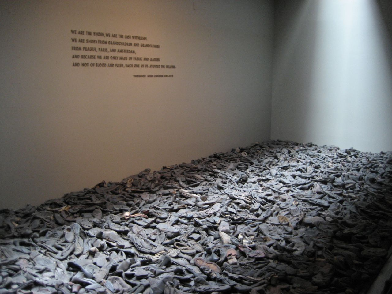 This is a pile of shoes that was like what they did back