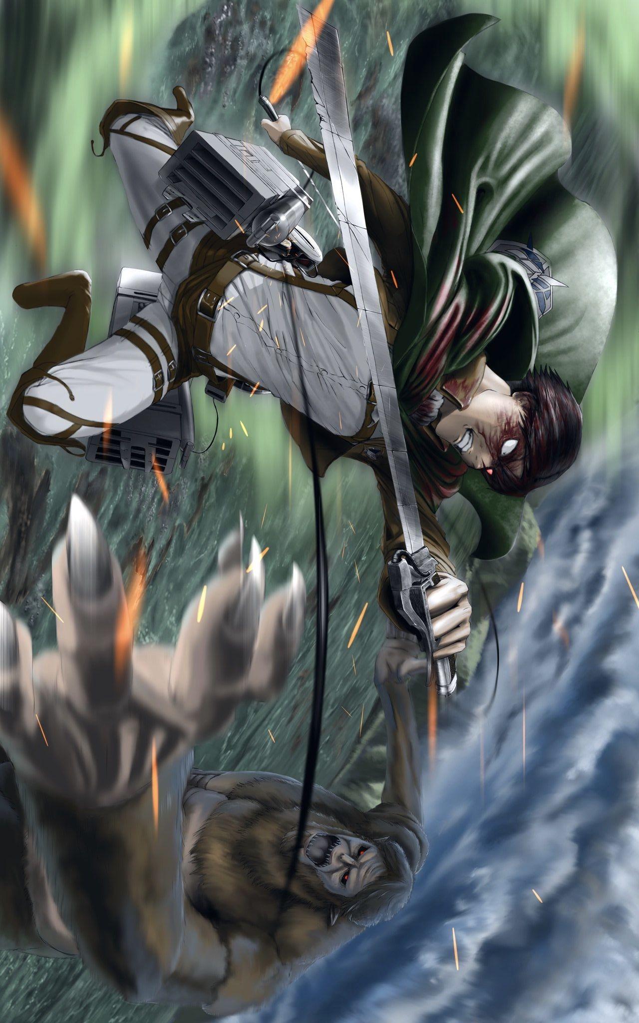 Levi Vs Titan Bestia