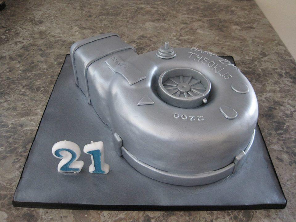 A Turbo Cake Adult Birthday Cakes Pinterest Cake Birthday - Car engine birthday cake