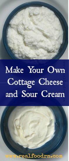 Homemade Raw Milk Cottage Cheese Sour Cream Recipe Homemade Cottage Cheese Homemade Cheese How To Make Cheese