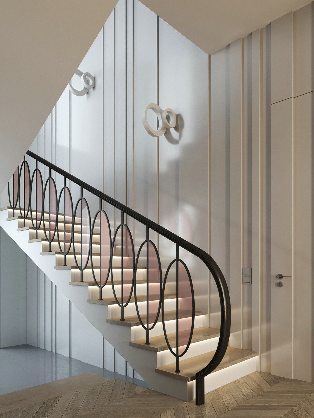 Pin By Squadra On 栏杆 Staircase Design Modern Staircase | Railing Of Stairs Design | Stainless | Wrought Iron | Ultra Modern Stair Grill | Stylish | Creative