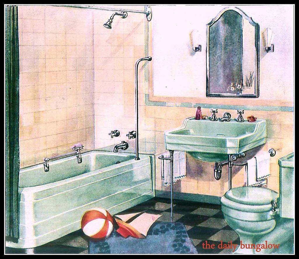 1940 Bathroomsl  R Via Flickr For The Homes Of Today Entrancing 1940 Bathroom Design Inspiration Design