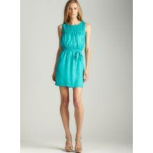 Max Studio Pebbled Shirting Dress (TEAL