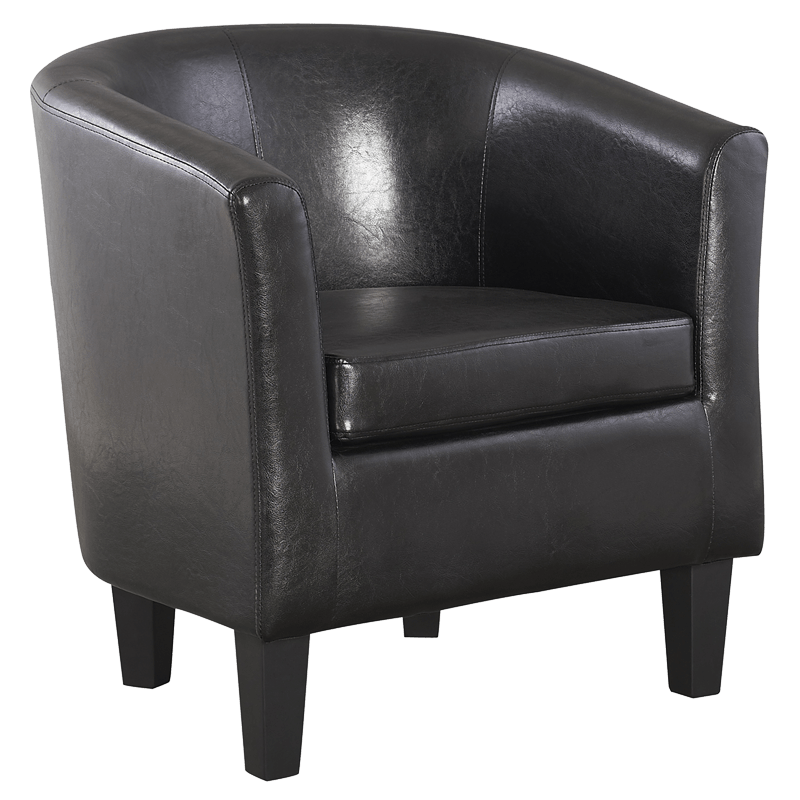 65 Reference Of Chair Png Black In 2020 Leather Tub Chairs Single Sofa Black Armchair