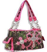 Hot Pink Camouflage Double Cross Purse