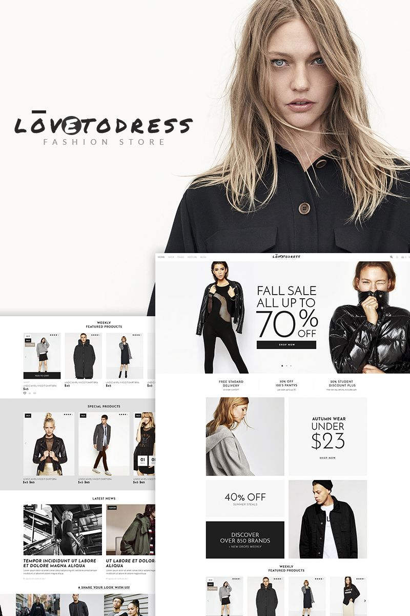 Lovetodress Fashion Store Woocommerce Theme 67288 Wordpress Templates Web Design Studio Id Design Online Clothing Stores