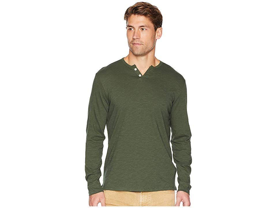 45479f62 Joe's Jeans Wintz Long Sleeve Slub Henley (Olive) Men's Clothing. This  versatile Joe's
