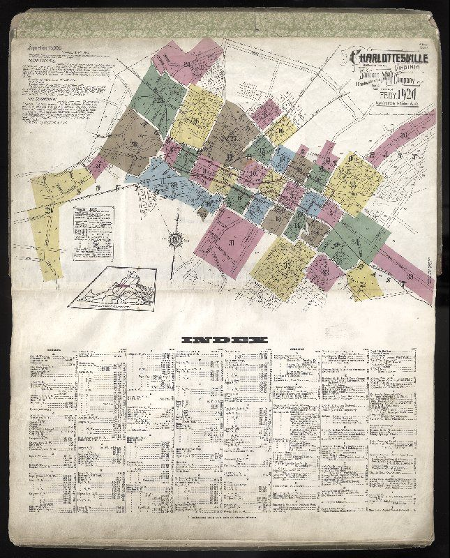 Complete 1920 Sanborn Insurance Maps Of Charlottesville And