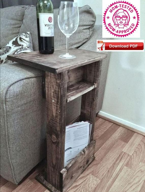 Sofa Stand plan/end table plan/couch stand plan/book stand plan/wine table plan/craft table plan/magazine stand plan/tablet stand plan/pdf