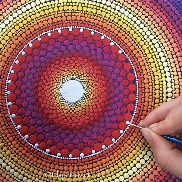 Amazing Dot Painting By Elspeth Mclean Random Dot Painting Tools