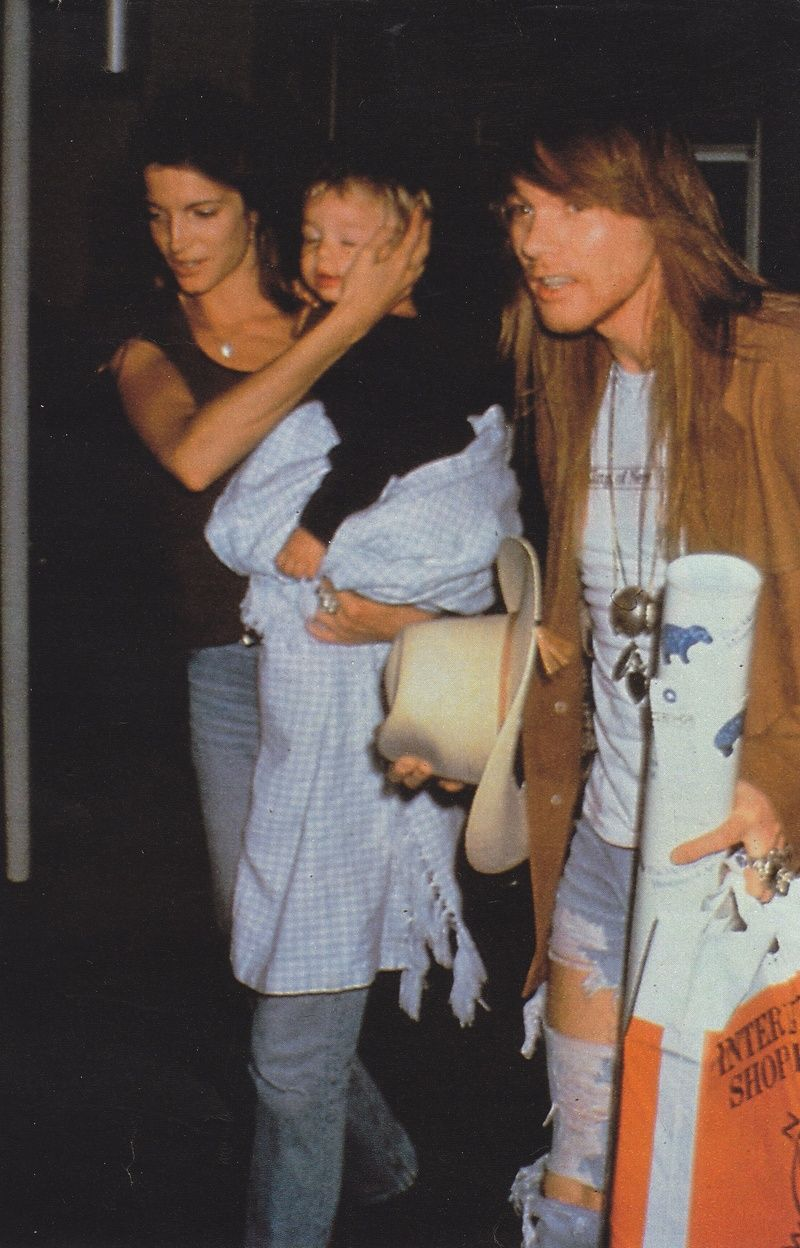 Axl Rose with Stephanie Seymour and her baby son Dylan, early '90s #axlrose  #waxlrose #gnr #gunsnroses #rockstar #rockicon #bestsingerever  #hottestmanalive #liv…