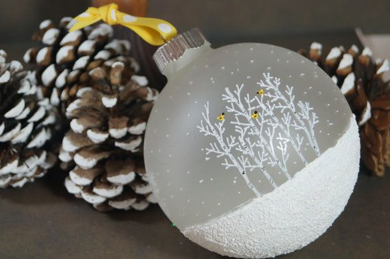 Personalized Large Family Glittering Textured Snow Scene ...