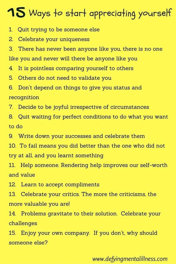 Learn to appreciate yourself, your value \ your self worth - self care assessment
