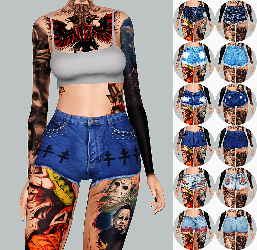 Eris Sims 3 CC Finds (sakorbsims: i got bored and needed more shorts...)