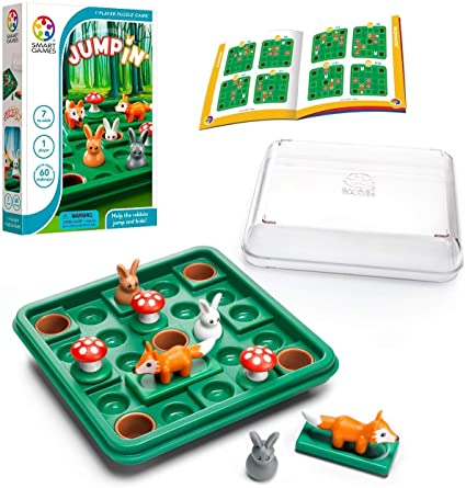 SmartGames Jump in', a Cognitive Skill-Building Travel Puzzle Game for Kids and Adults Ages 7 & Up, 60 Challenges in Travel-Friendly Case.