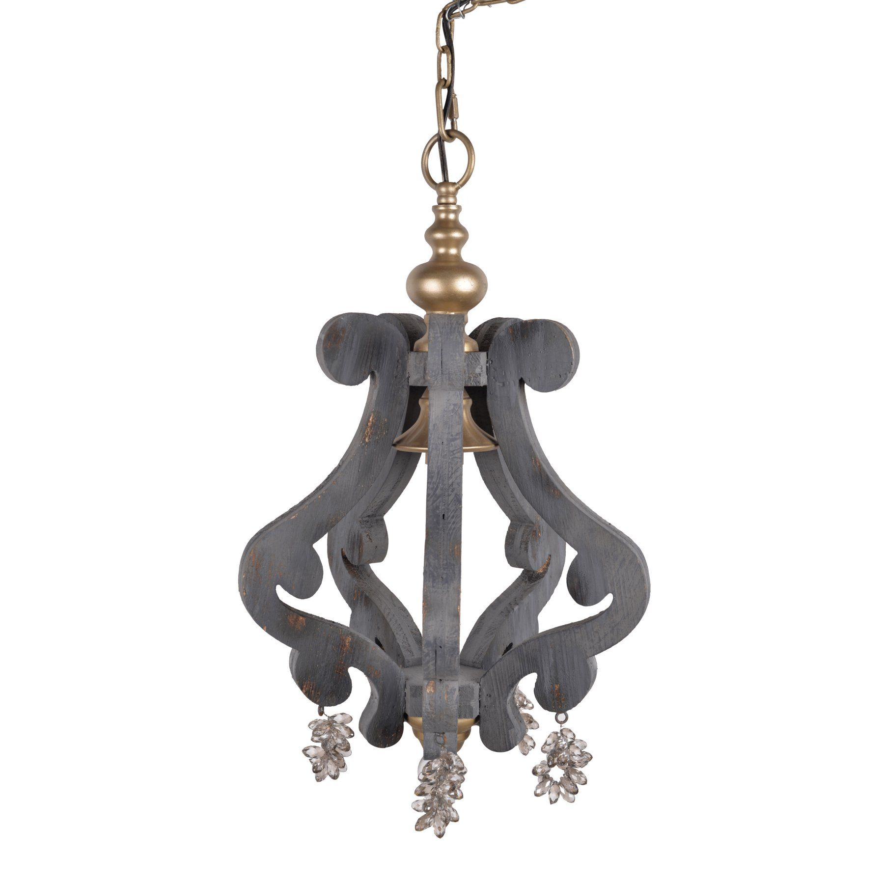 A and B Home Wooden Sculptured Chandelier