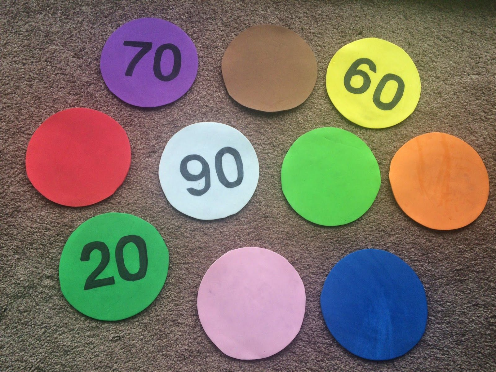 Reinforce numbers and colors at the same time. | Teaching Ideas ...
