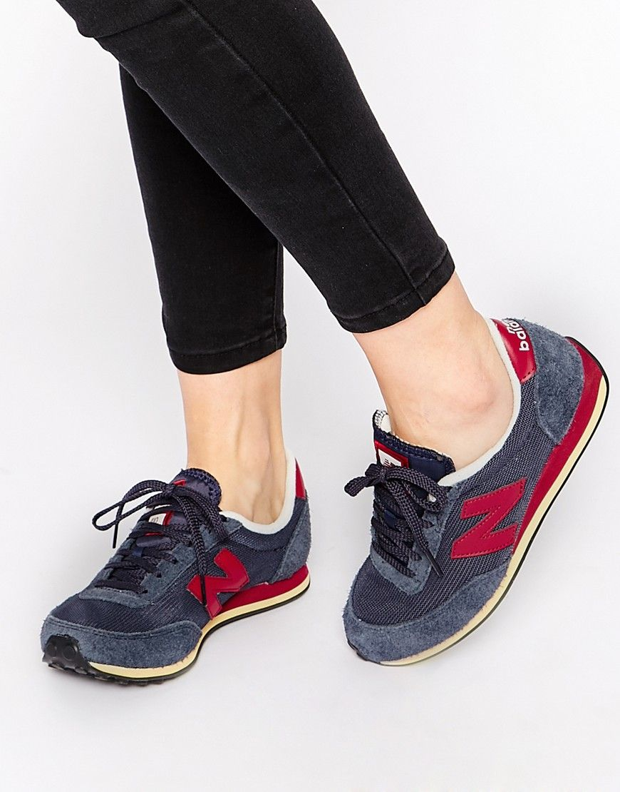 new balance 373 navy & burgundy suede
