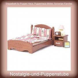 Superior Nur 0.00 EUR: Sylvanian Families U003e Möbel Und Einrichtungen. Puppenbett,  Doppelbett Für Puppen Haus ...