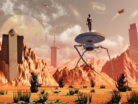 Artist's Concept of What Life On Mars May Look Like in the Future ...