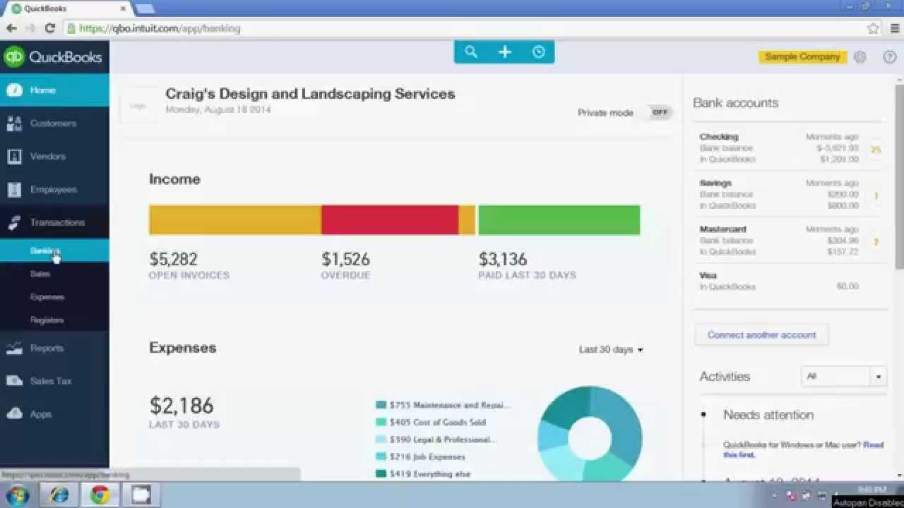 how to add bank fees in quickbooks online
