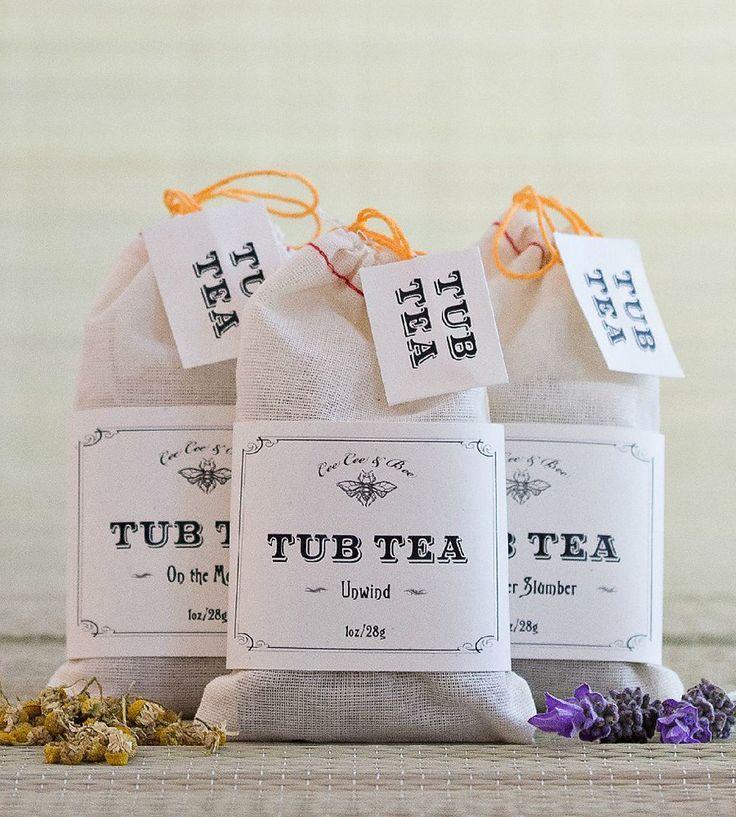Bath Soak Tub Tea Bath Soak Set by  #bathsoak #pretty #bodycare #skincare #teapackaging