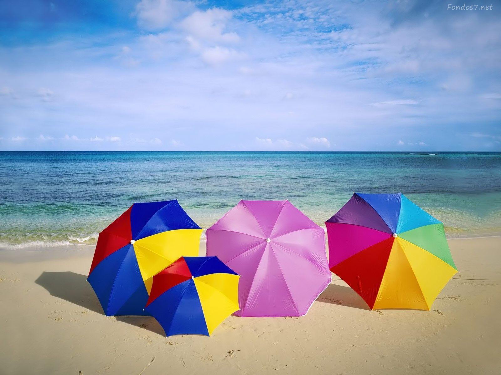 Resultado De Imagen De Playas Sombrillas Summer Landscape Beach Wallpaper Beach Umbrella