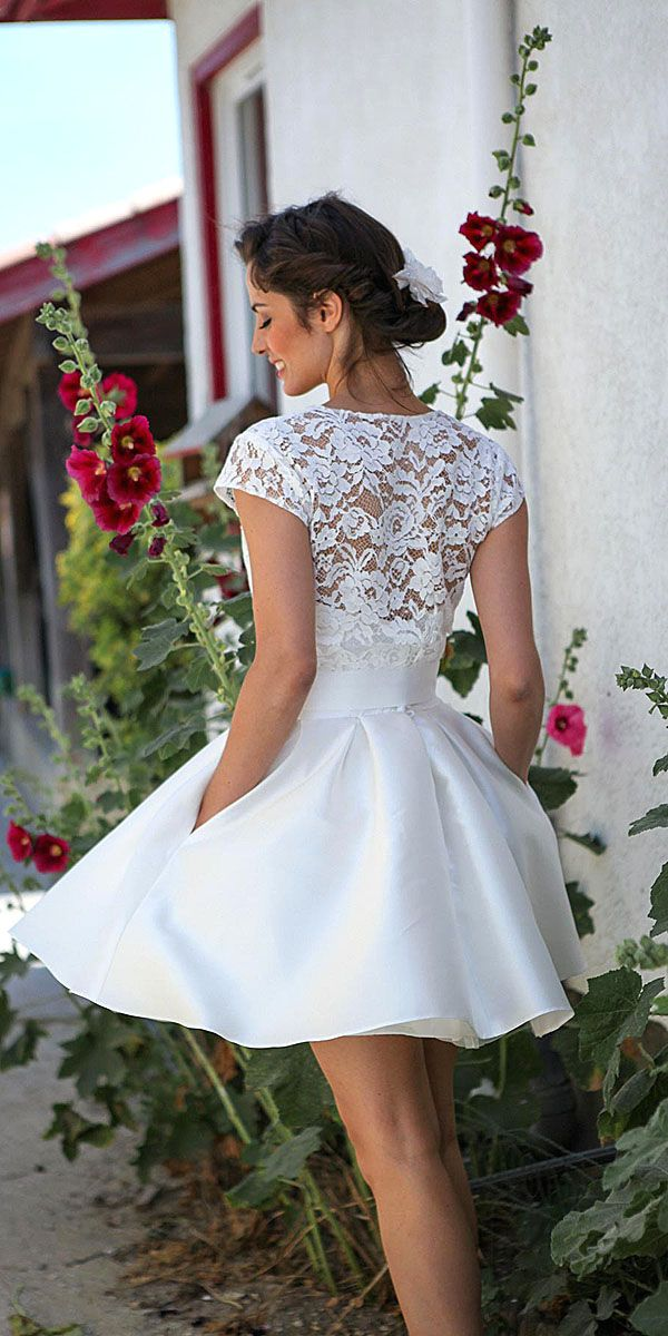 27 Amazing Short Wedding Dresses For Petite Brides | Brautkleid kurz ...