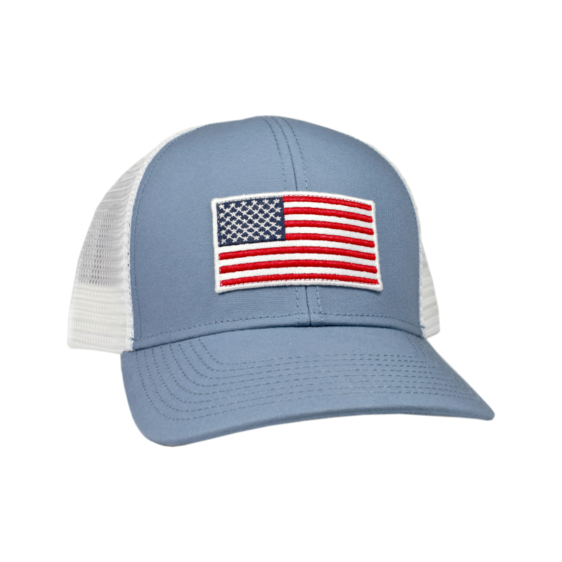 a91c6ebe6 American Flag Mesh Back Trucker Hat | Products | American flag, Hats ...