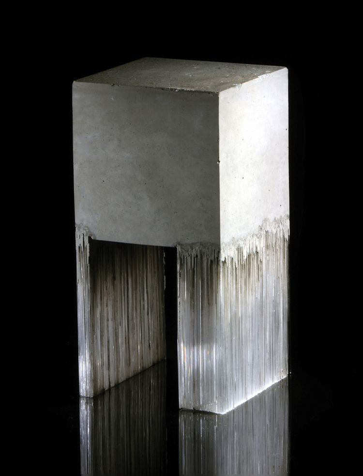 Harry Morgan   Entropy Study 3, 2014   Concrete + glass   © Simon Bruntnell
