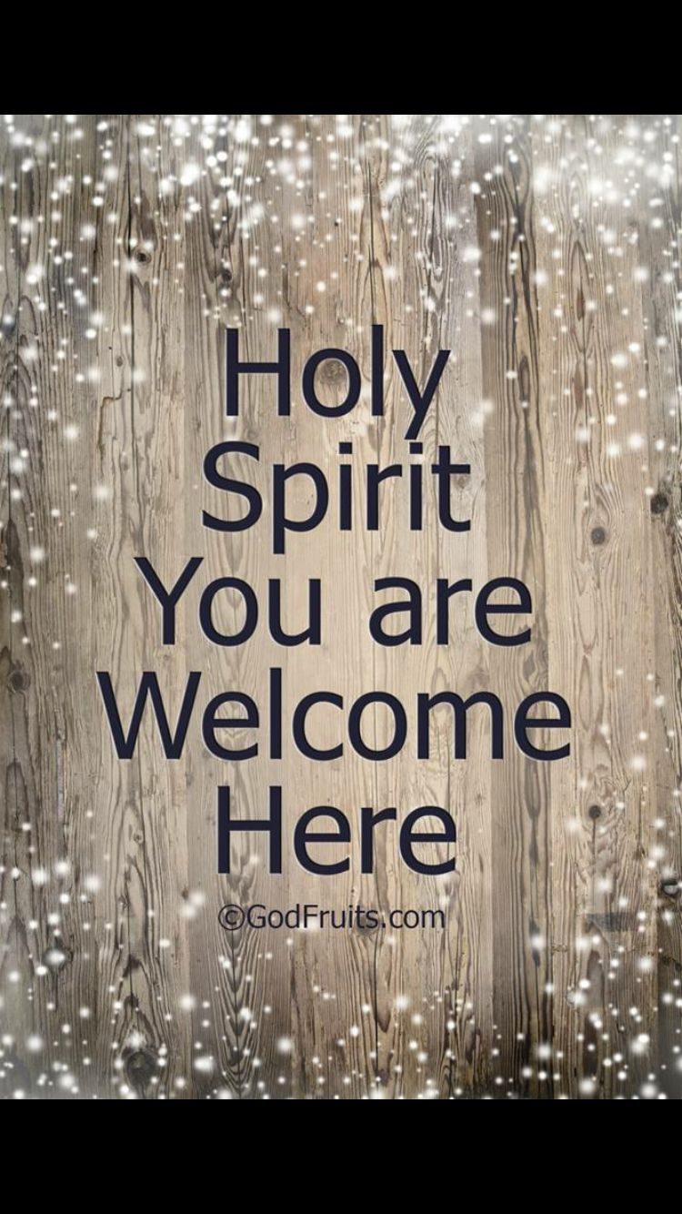 Holy Spirit you are here (With images) Holy
