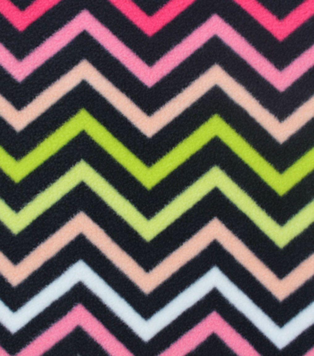 Antipill fleece fabricstrawberry pink chevron stripeschevron